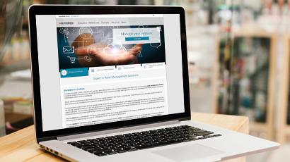 Screenshot edrms website